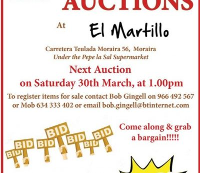 Auction, Moraira, March 30th