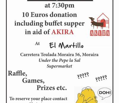 Akira quiznight, Moraira June 27th