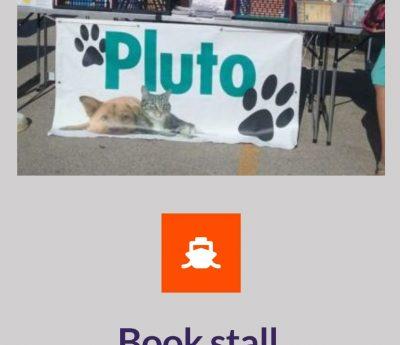 Pluto's book stall, Moraira, Aug 30th, Nov 29.