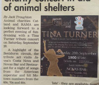 Tina Turner tribute, Javea, Sept 28