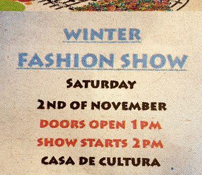 Fashion show, El verger, Nov 2nd