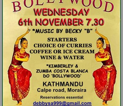 Bollywood evening, Nov 6th, Moraira