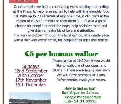 Charity dog walk, Nov 17th, Alicante