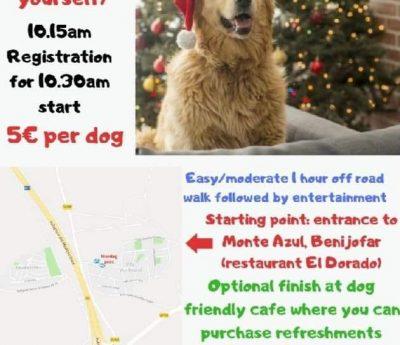 December charity dog walk, Benijofar, Dec 1st