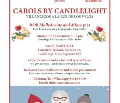 Carols by candlelight, Moraira, Dec 15th.