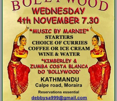 Bollywood night, Wed Nov 4th, Moraira